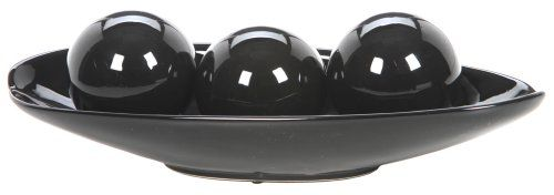 Black Decorative Bowl Hosley's Elegant Expressions Black Decorative Bowl And Orb Set