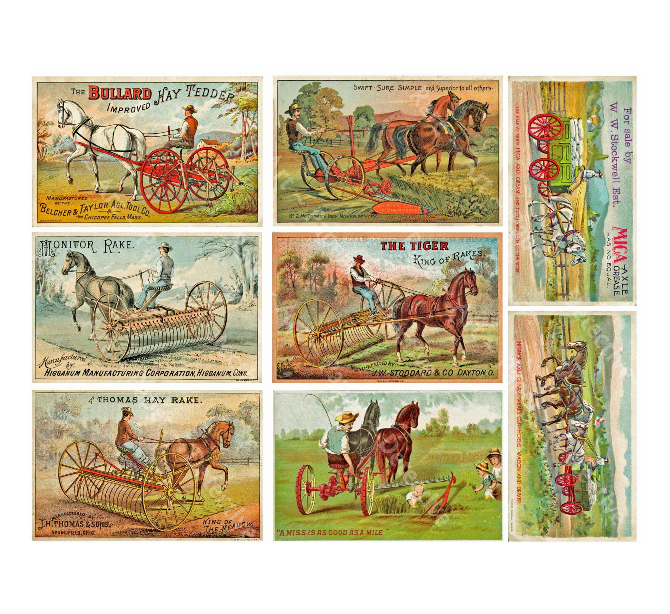 PRIMITIVE VINTAGE ANTIQUE VICTORIAN STYLE ADVERTISING HORSE BLANKET PRINT SIGN