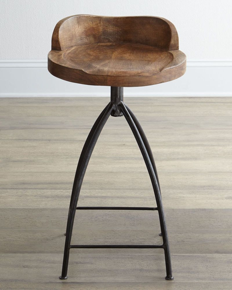 Details About New Horchow Arteriors Swivel Counter Stool Henson