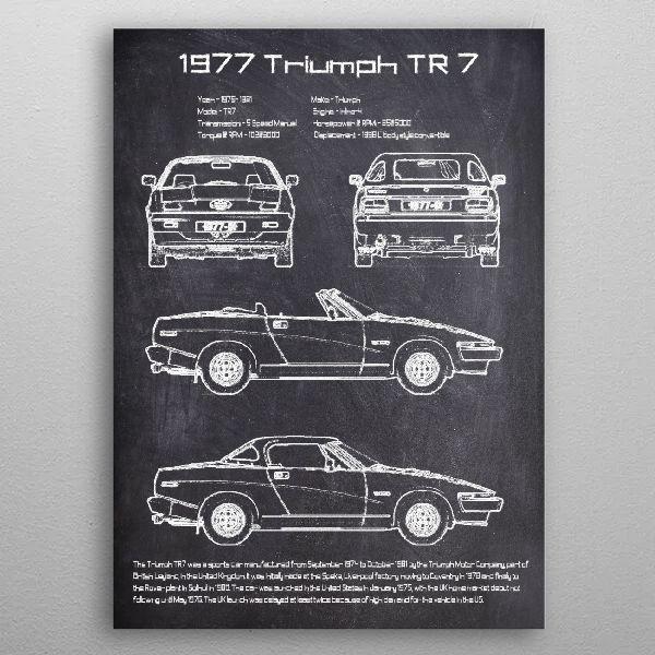 1977 Triumph TR 7 by FARKI15 DESIGN | metal posters - Displate | Displate thumbnail