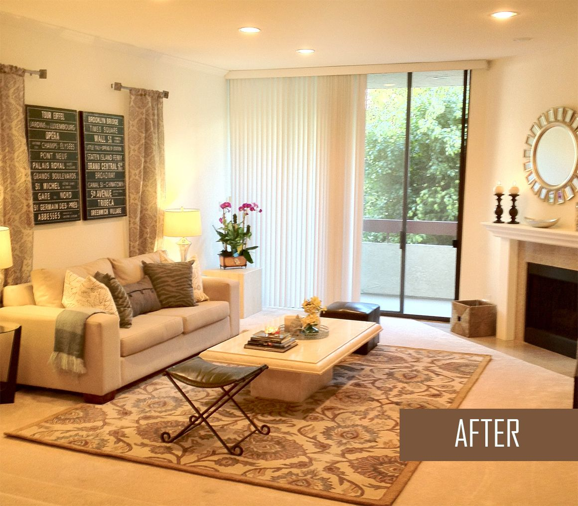 Accessory Spruce Up Before And After Apartment Living Room