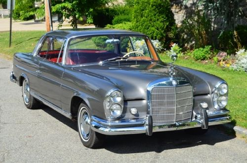 18683 1963 Mercedes 220se Opera Coupe Gray With Red