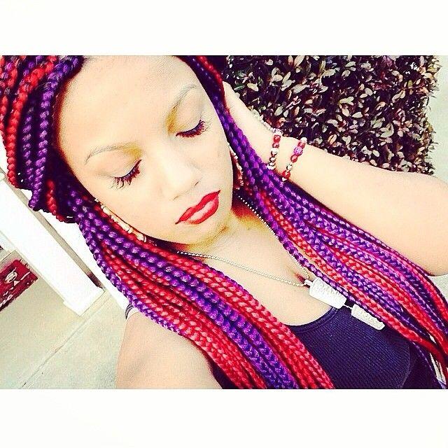 Instagram Post By Omg Girlz Omggirlz Purple Box Braids Dope