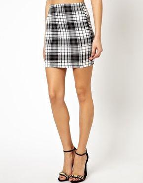 b521b4d43e Image 4 of ASOS Mini Skirt in Check Print   Basic bitch