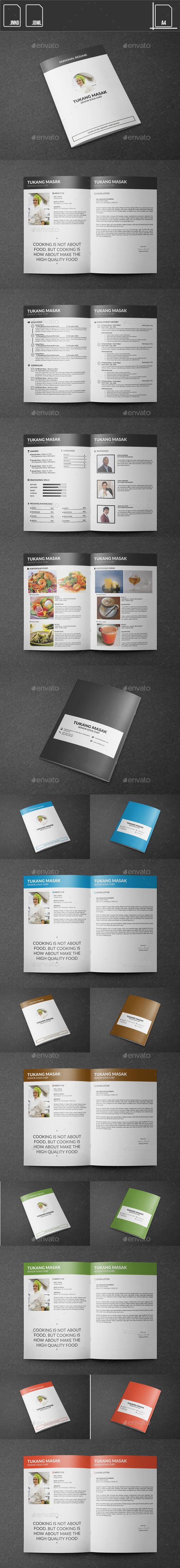 Resume Chef Booklet   Modern resume, Resume cv and Template