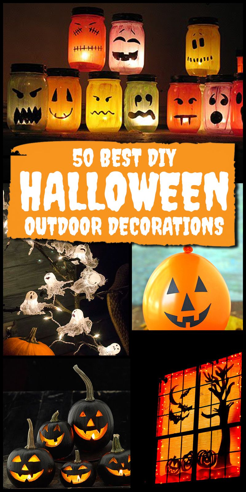 64 Best DIY Halloween Outdoor Decorations for 2018 👻 Pinterest - halloween decorations diy