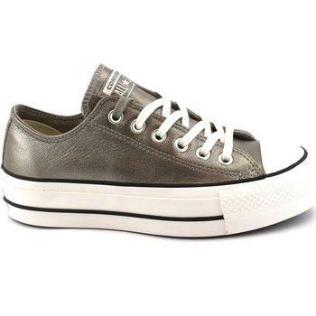 5597b027f04 CONVERSE 562776C ctas lift ox gold oro sneakers pelle lacci platform Sneakers  pour les femmes modèle