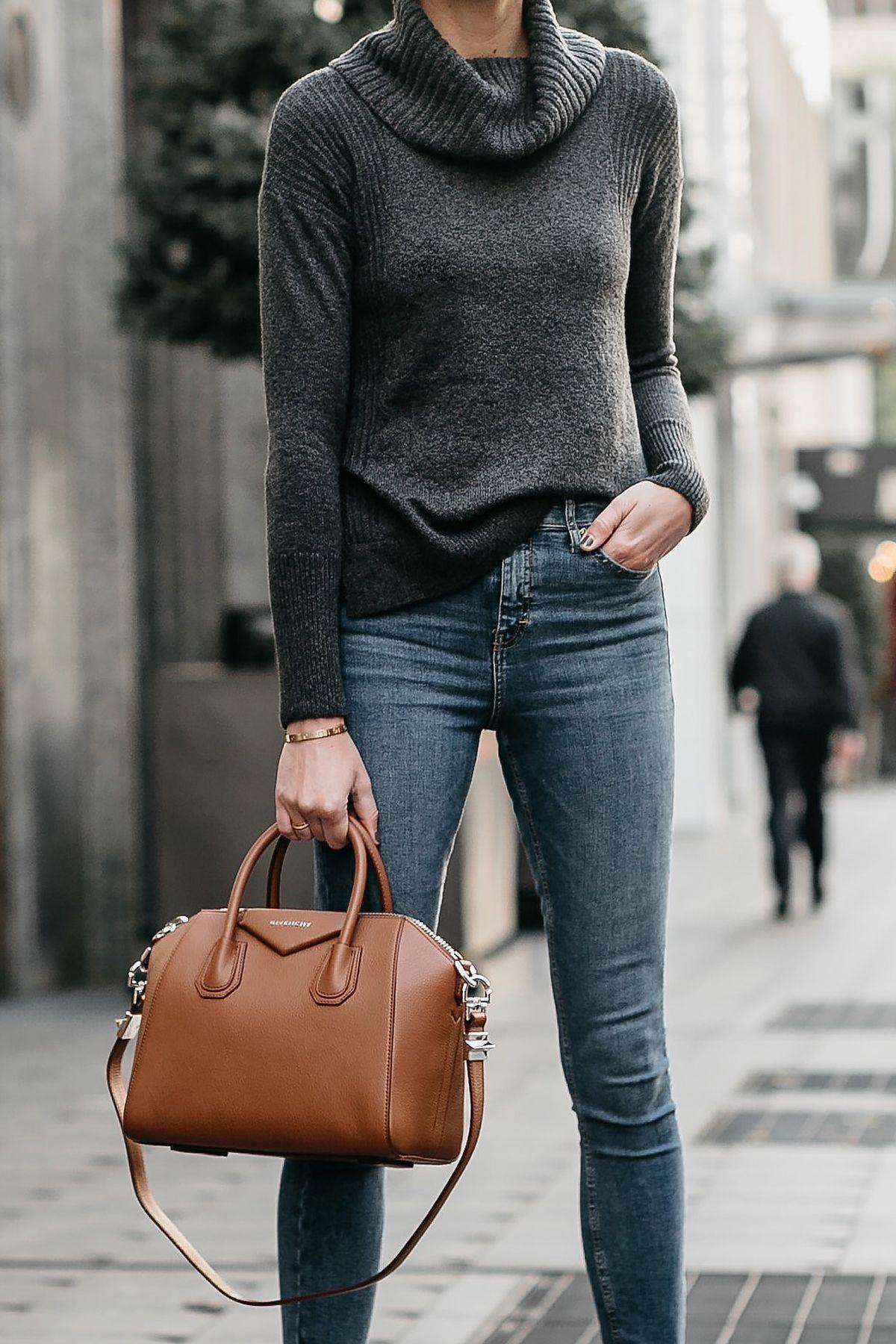 fe9fa71f802d Grey Turtleneck Sweater Denim Skinny Jeans Givenchy Antigona Cognac Handbag  Fashion Jackson Dallas Blogger Fashion Blogger Street Style   Designerhandbags