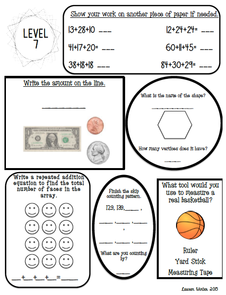 Second Grade End Of The Year Math Review Math Skills Math And