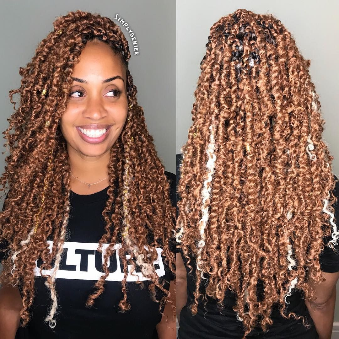 Pretwisted Crochet Passion Twist Hair Prelooped Passion Twists