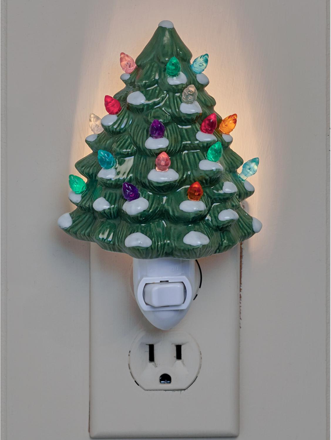 Ceramic Christmas Tree Night Light Christmas Tree Night Light Ceramic Christmas Trees Diy Christmas Lights