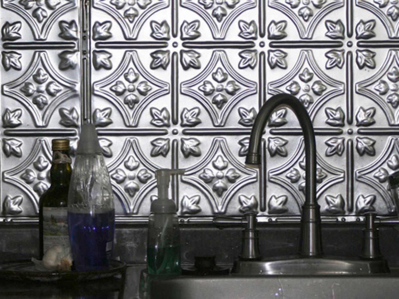 - Self-Adhesive Backsplash Tiles Metal Backsplash Kitchen