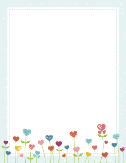 Heart flower border borders pinterest flower journal and planners free heart flower border templates including printable border paper and clip art versions file formats include gif jpg pdf and png mightylinksfo