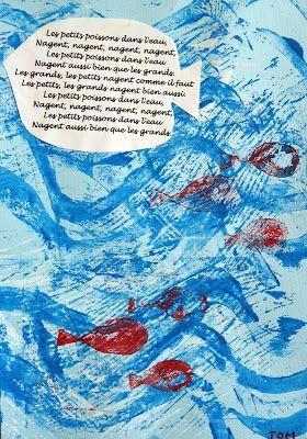 Petit Poisson Dans L'eau Comptine : petit, poisson, l'eau, comptine, Comme, Poissons, L'eau, Comptines,, Comptine, Illustrée,, Maternelle