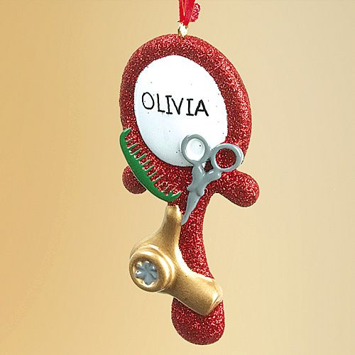 PERSONALIZED HAIRDRESSER ORNAMENT