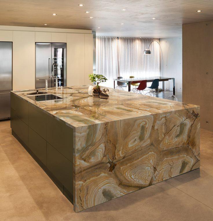 palomino quartzite kitchen island | Kitchen | Pinterest ...