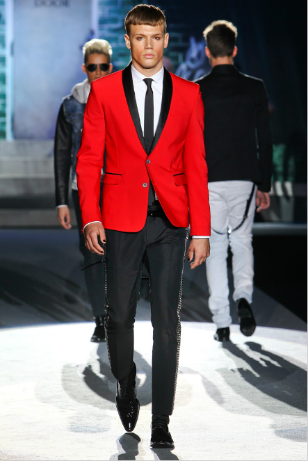 Black And Red Tuxedo | Dsquared red and black two-button tuxedo ...