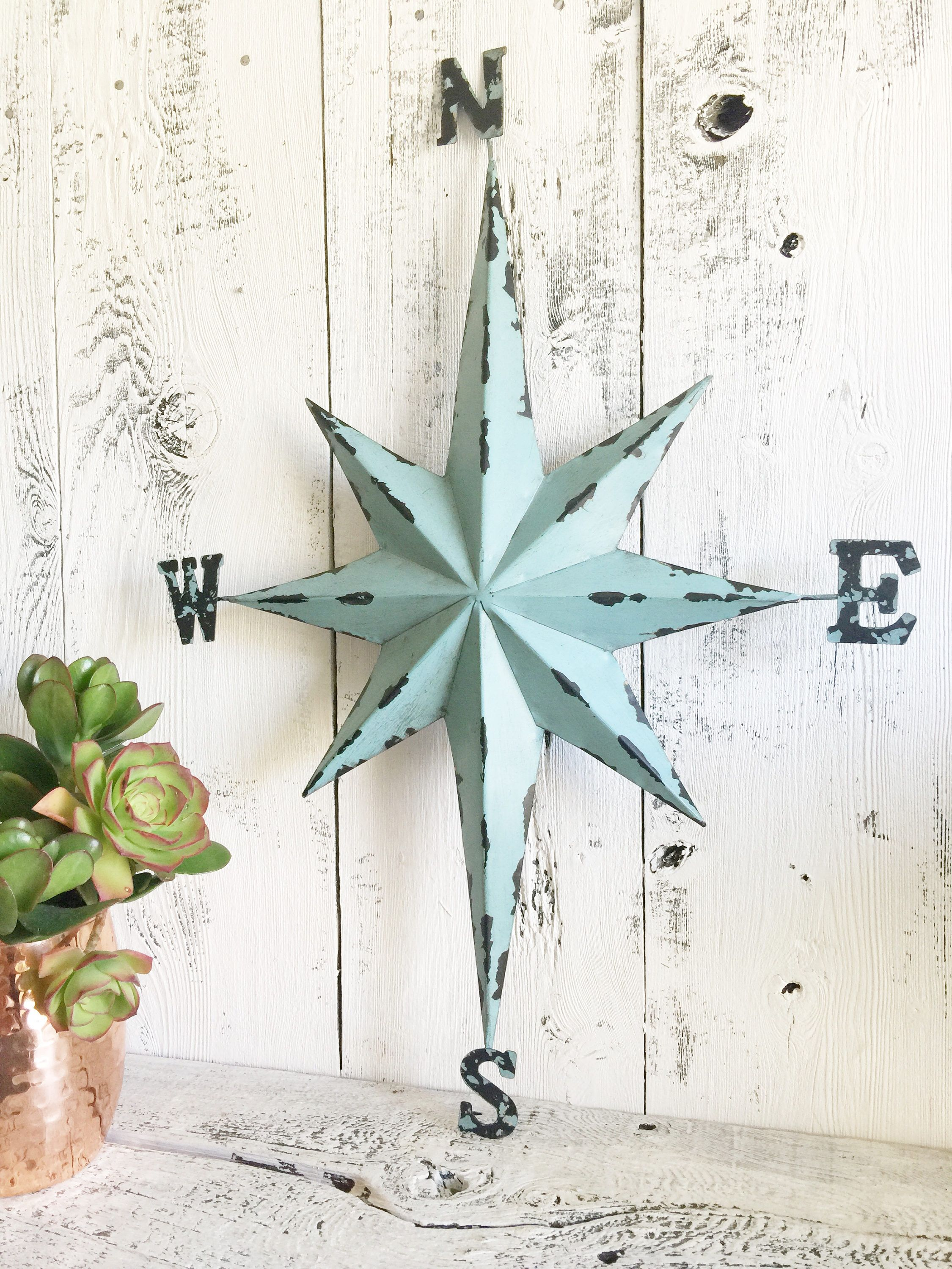 Compass Wall Decor, Nautical Compass, Direction Star Wall Decor