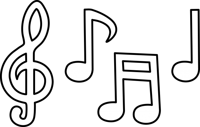 Music Notes Clipart Clipartion Com Music Notes Drawing Music Notes Art Music Coloring