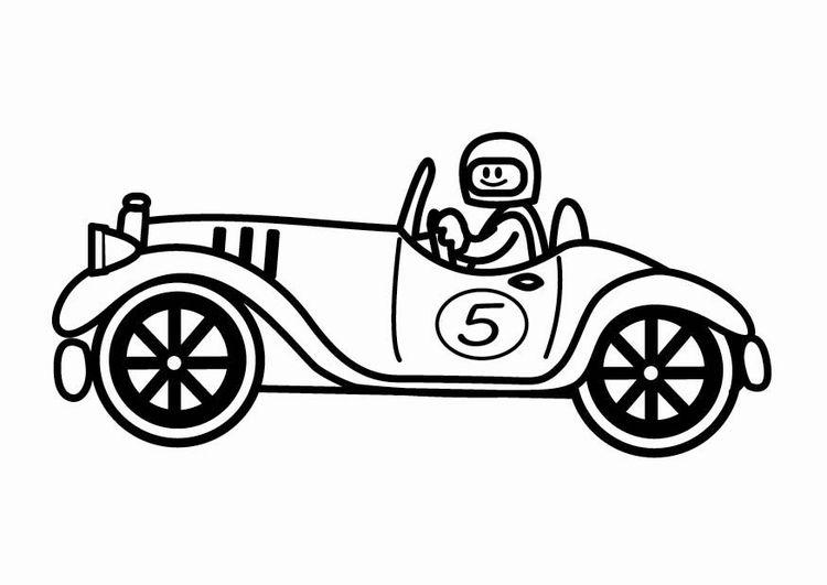 Kleurplaat Oldtimer Raceauto Vaderdag Pinterest Coloring Pages