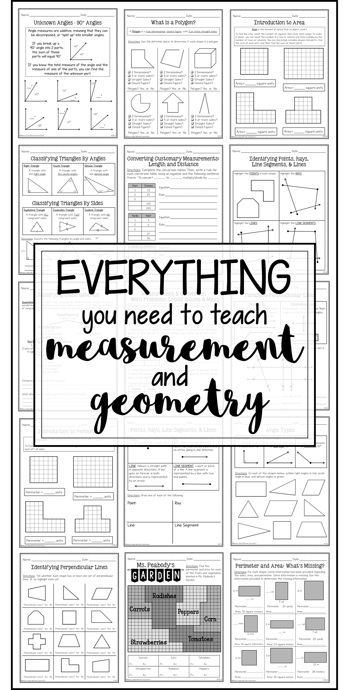 Measurement Amp Geometry Printables