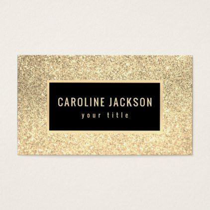 Faux golden glitter business card chic design idea diy elegant faux golden glitter business card chic design idea diy elegant beautiful stylish modern exclusive trendy reheart Image collections