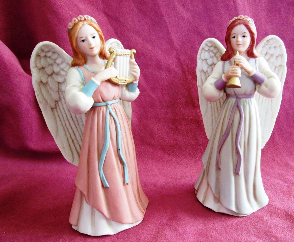 Home Interior Homco Heavenly Duet Set Of 2 Angel