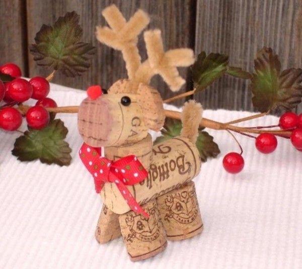 Basteln mit Korken - 30 stilvolle Ideen für Weihnachten