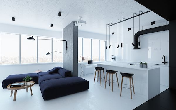 A Light And Industrial Apartment In Kiev Ukraine Apartment