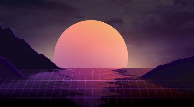 Vapor Wave Sunset Artist Wallpaper 2048x1152 Wallpapers