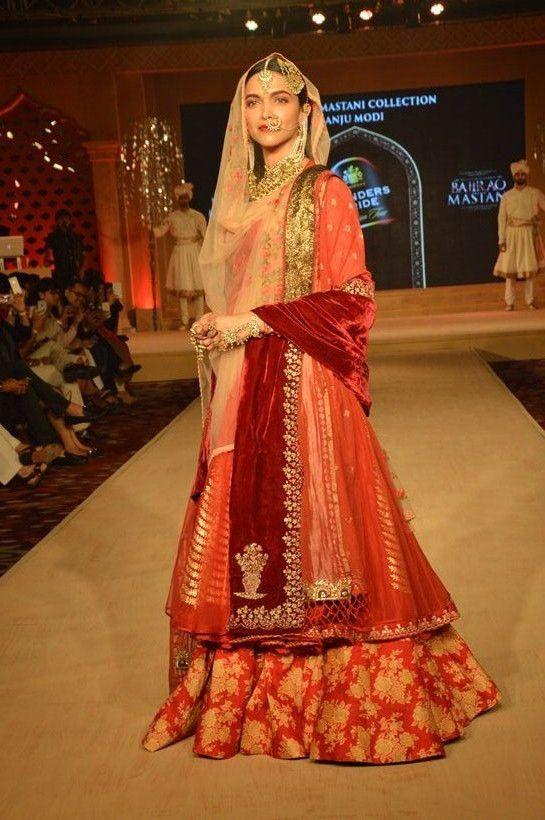Deepika Padukone's royal walk for Anju Modi's collection ...