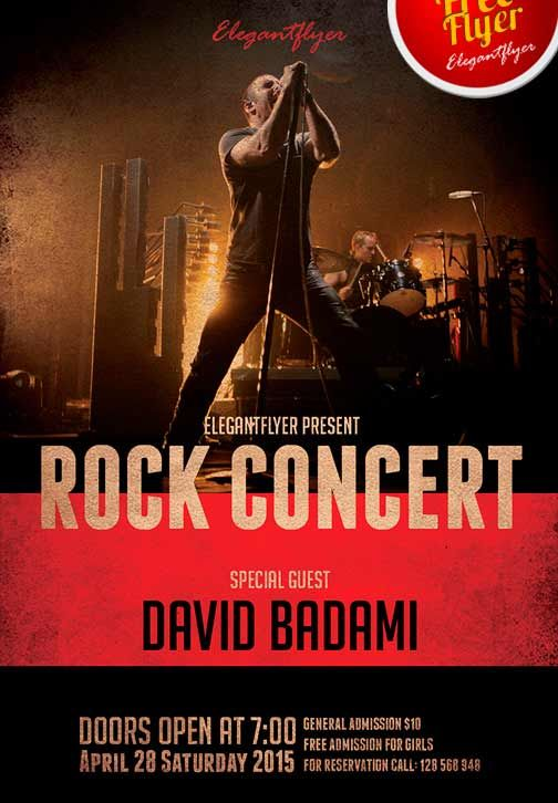 Rock Concert Free PSD Flyer Template + Facebook Cover - http - band flyer template