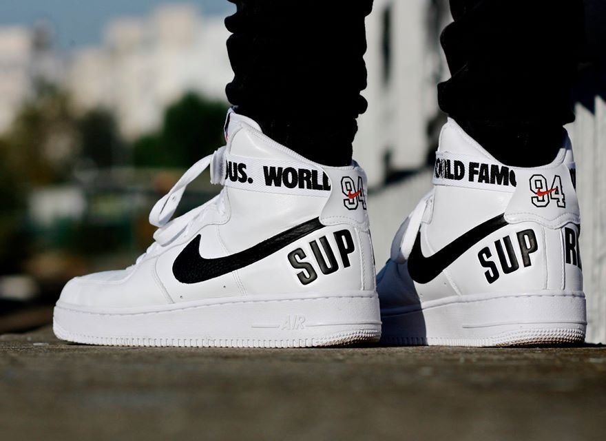 nike air force 1 supreme hi białe