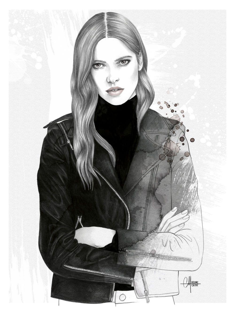 Comptoir Des Cotonniers Fashion Illustration Watercolor Watercolor Fashion Illustration Artists