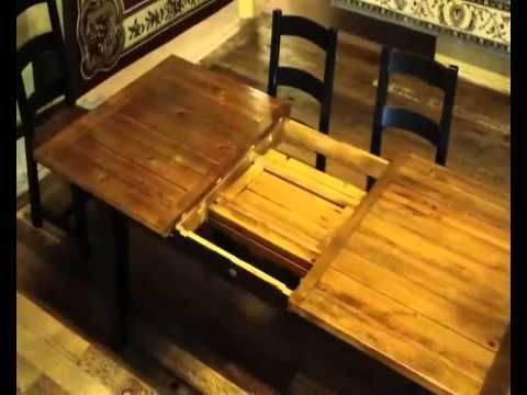 Reclaimed Wood Farmhouse Table With Butterfly Leaf Demo Its My