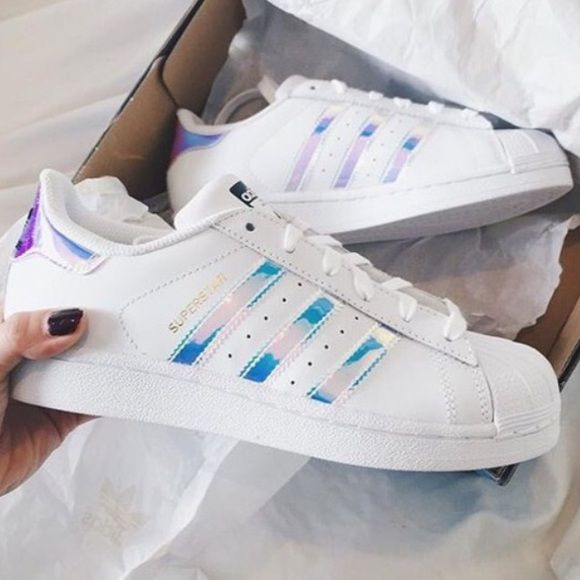 Sz 6, 7, 7.5•Adidas Superstar Holographic Stripe New adidas