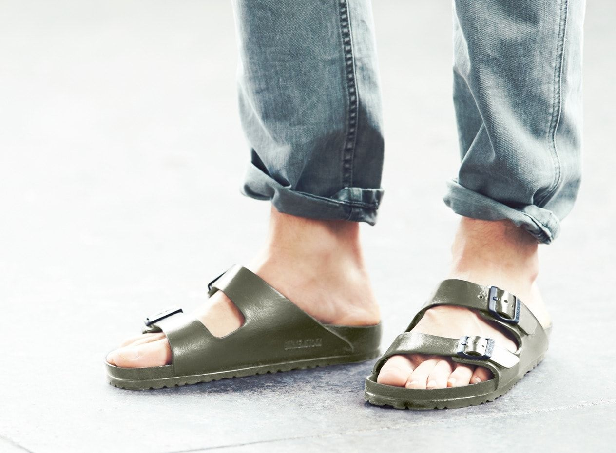 f01d5d601f Can t go wrong with these waterproof men s Birkenstock® Arizona eva sandals  from J.Crew. You might say Birkenstock goes way back  The brand s original  ...
