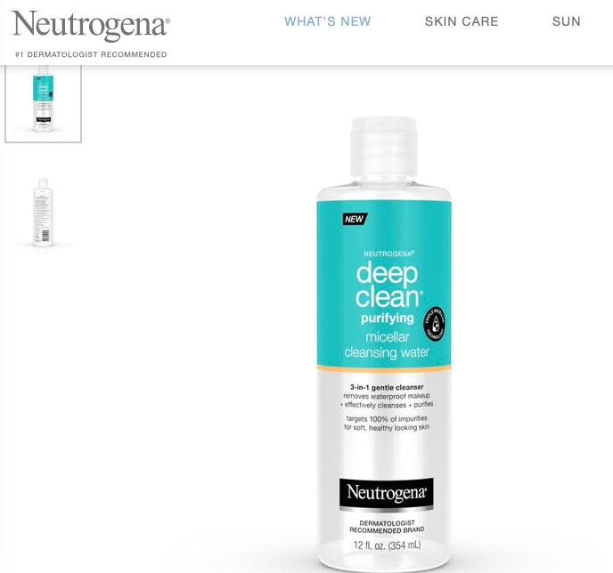 Micellar Water Facial Cleanser & Makeup Remover Facial