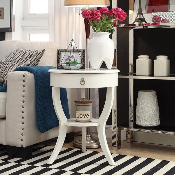 Great INSPIRE Q Burkhardt Tripod Round Wood Accent Table   Overstock™ Shopping   Great  Deals On