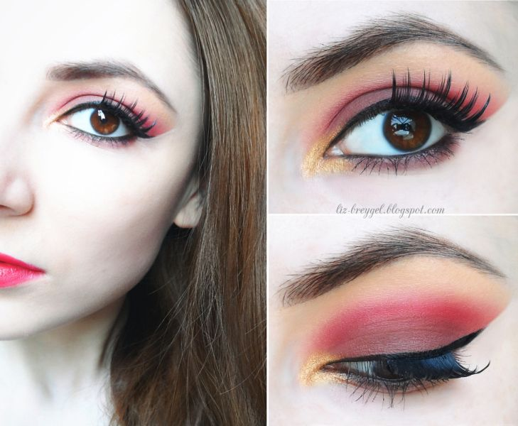 Check out this gorgeous look with muted reds & shimmering golds inspired by a beautiful summer sunset. Visit site to see the #stepbystep #makeup #pictorial with @breygel   Share your summer looks to be featured>> www.glam-express.com/  #bbloggers #beauty #summer #sunset #howto #tutorial #eyes
