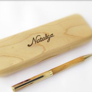 Wooden Gifts And 5th Wedding Anniversary For Her Pens Pencils