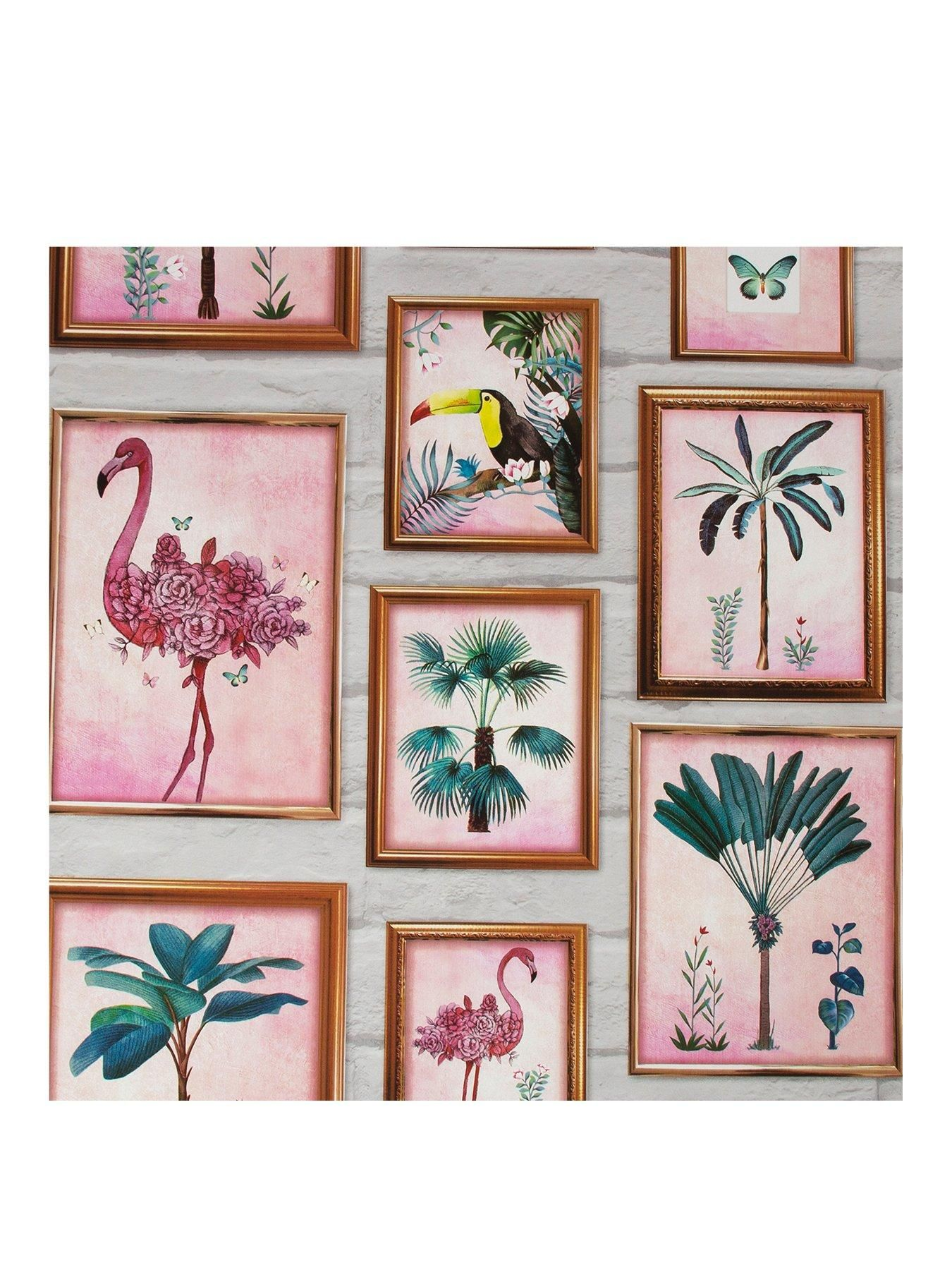 Tropical Frames Wallpaper in 2020 Framed wallpaper