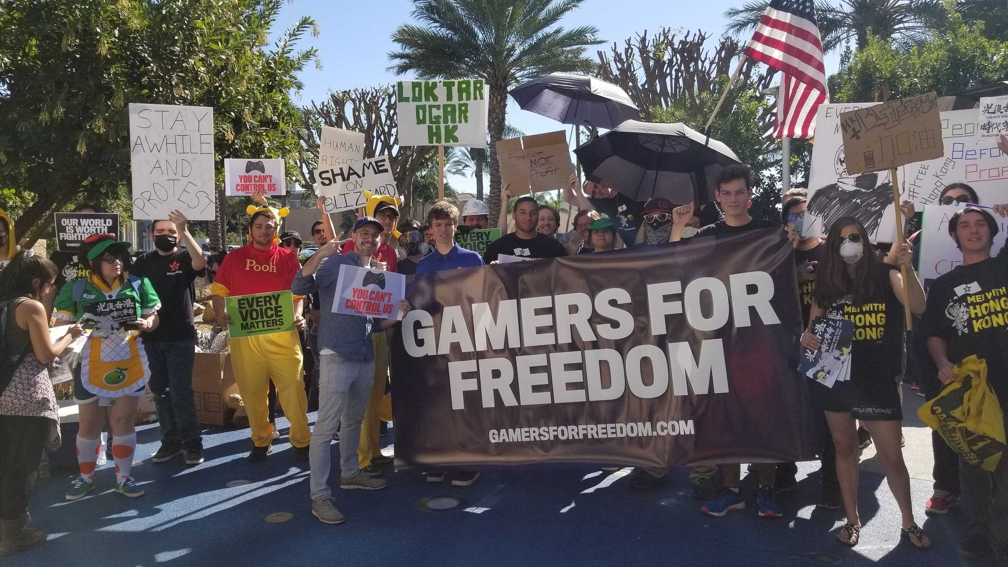 As Promised Protesters Showed Up To Blizzcon Todayhttps Https Ift Tt 36jfbqc Gamer Blizzcon Video Game Companies