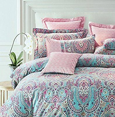 Bohemian Chic Bedding bright colorful boho chic bedding brushed cotton paisley print