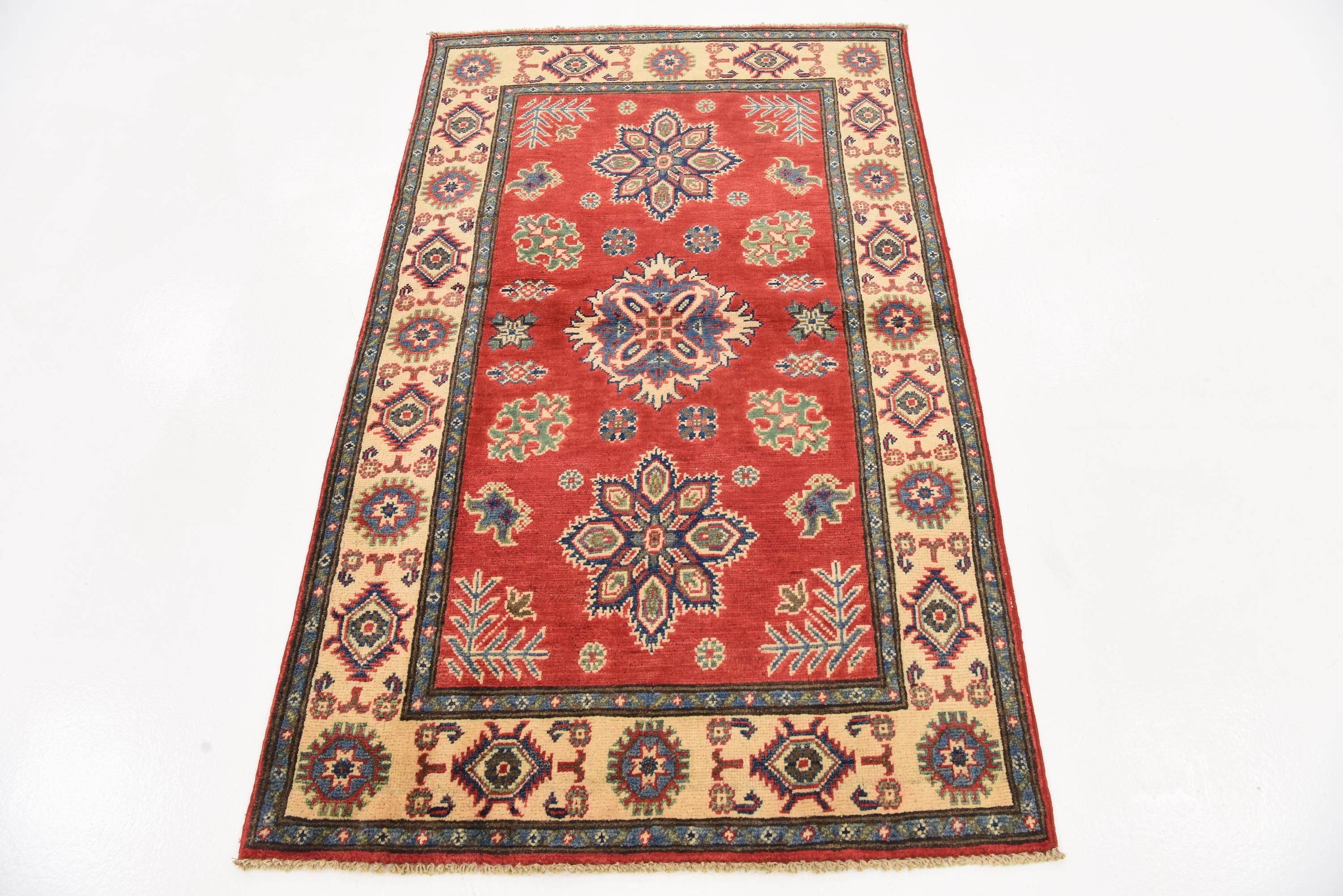 Red 3 1 X 5 2 Kazak Rug Affiliate Red Kazak Rug Sponsored With Images Area Rugs Beige Area Rugs Rugs