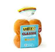 Udi's Hamburger Buns are by far the best GF buns I've found.  They are actually light and easy to swallow!  And a big plus is that they don't fall apart.  I take them to In and Out Burger, I take them Arby's.  And I even use them for sandwich bread!