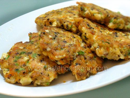 Tofu Cakes with carrot and spring onion
