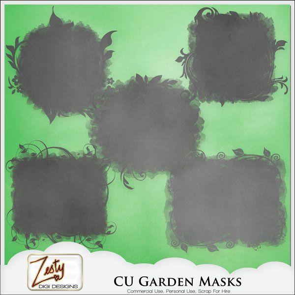 CU Garden Masks | CU/Commercial Use #digital #scrapbook design tools at CUDigitals.com #digitalscrapbooking