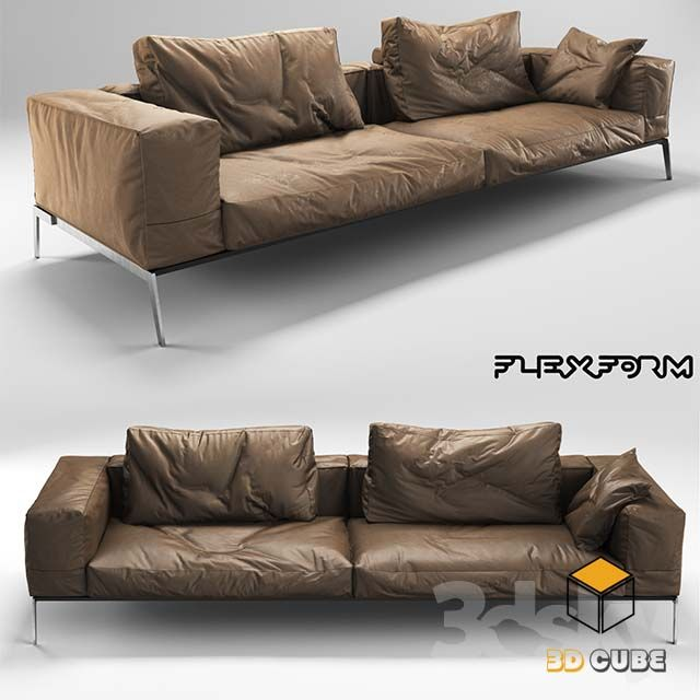 Https Www 3dcube Org 23 3d Sofa Models Free Download Leather Sofa Furniture Brown Sofa