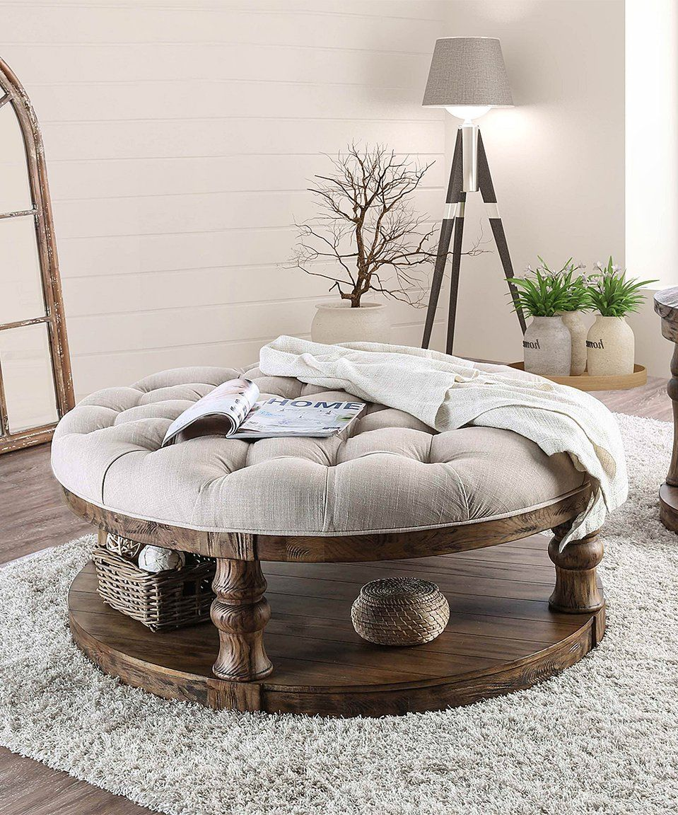Take a look at this Oak Tufted Coffee Table today! | makes my house ...